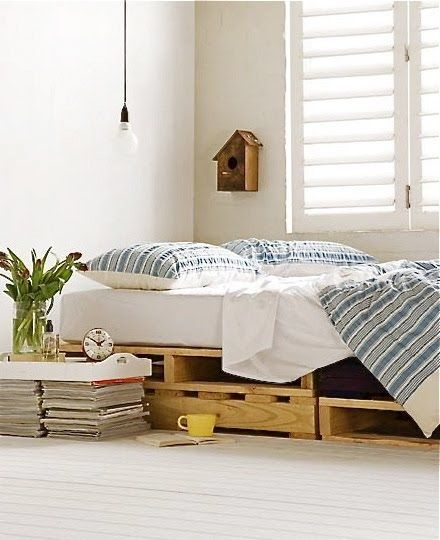 DIY Wooden Pallet Bed | 27 Ways To Rethink Your Bed