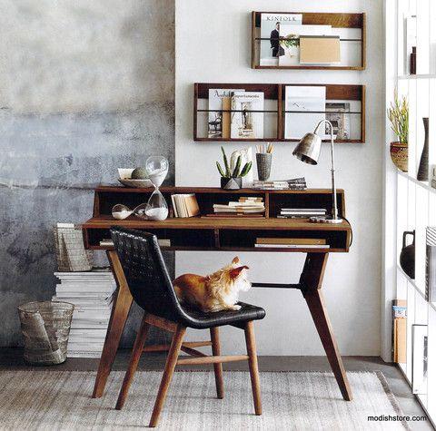 Roost Roubaix Teak Desk & Wall Racks – Modish Store
