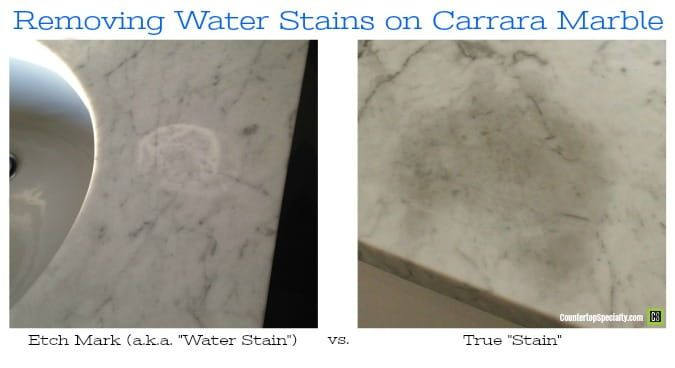 Remove Water Stains On Carrara Marble Remove Water Stains