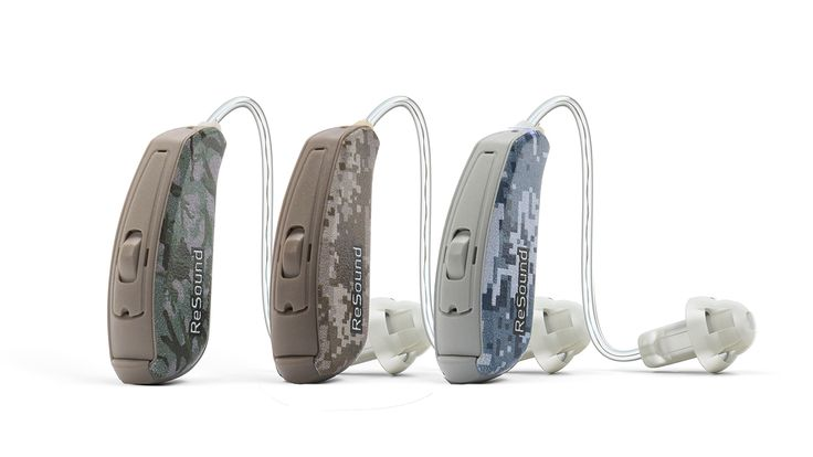 Introducing NEW! Camouflage Designs  ReSound Smart Hearing™ aids are now available for order in three camouflage designs - Forest Camo, Desert Camo and Ocean Camo. These new designs further expand the personalization and customization options available to wearers of ReSound LiNX² and ReSound ENZO².