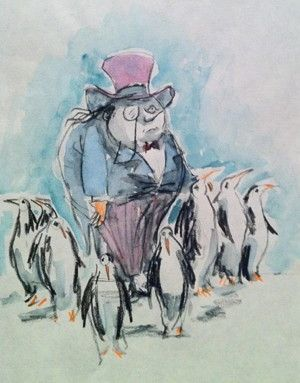 This reminds me of Uncle Pumblechook because he is leading around the ones he cares about. Much like how Pumblechook does by helping Pip during his life. - R W King