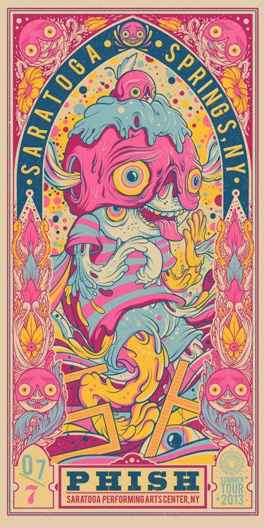 Drew Millward's new Phish posters | graphic design inspiration | digital media arts college | www.dmac.edu | 561.391.1148
