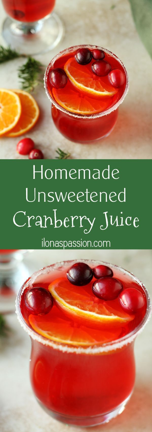 Homemade Unsweetened Cranberry Juice - 100% pure homemade unsweetened cranberry juice recipe that you can make easily at home. Only 1 ingredient to make refreshing and no sugar cranberry juice by http://ilonaspassion.com I /ilonaspassion/