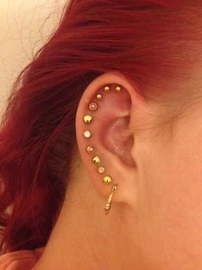 15 pretty ear piercings that 39 ll inspire you to add more for Studio 28 tattoos and body piercing new york ny