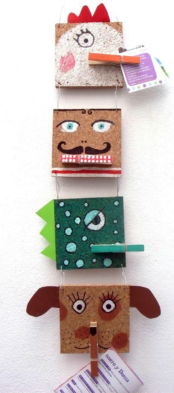 Decoración infantil de pared con pinzas de ropa   petit-on.com
