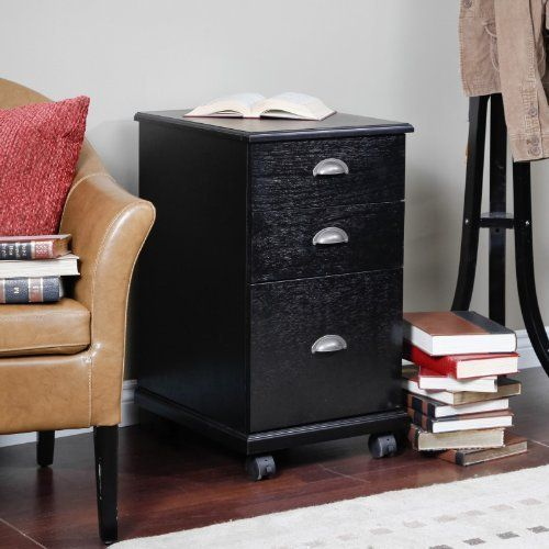 The 3 Drawer Mobile Filing Cabinet - Black Color - Black by Finley Home. $124.99. Stylish mobile filing cabinet. 1 file drawer for legal- or letter-size files. Dimensions: 15.75W x 19D x 28H in.. MDF with wood veneers. Striking black finish. Business casual goes business-chic in the The 3 Drawer Mobile Filing Cabinet - Black. Sturdy, stylish, and ultra-sophisticated, this contemporary filing cabinet gives you generous storage space on the go. The 19-inch deep file drawe...