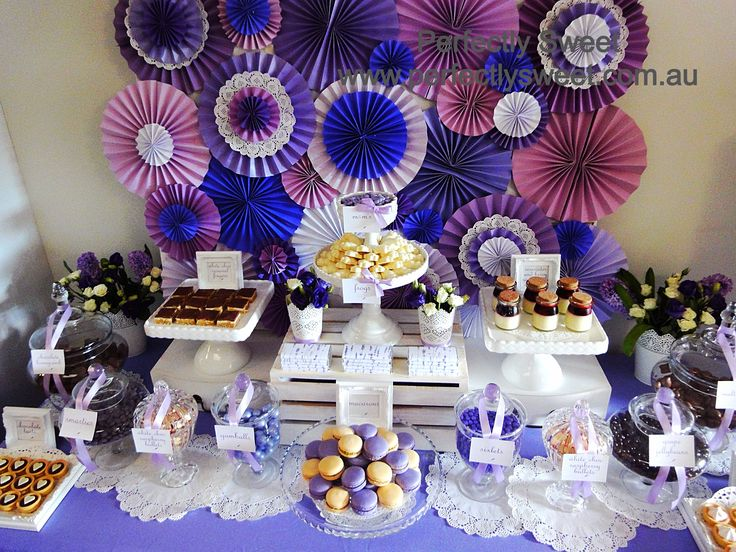 Purple and white inspired baby shower