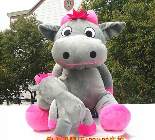 111.99$  Buy here - http://alidwb.worldwells.pw/go.php?t=1978218172 - huge lovely cow plush toy sitting gray cow stuffed doll big mouth cow toy birthday gift about 140cm 111.99$
