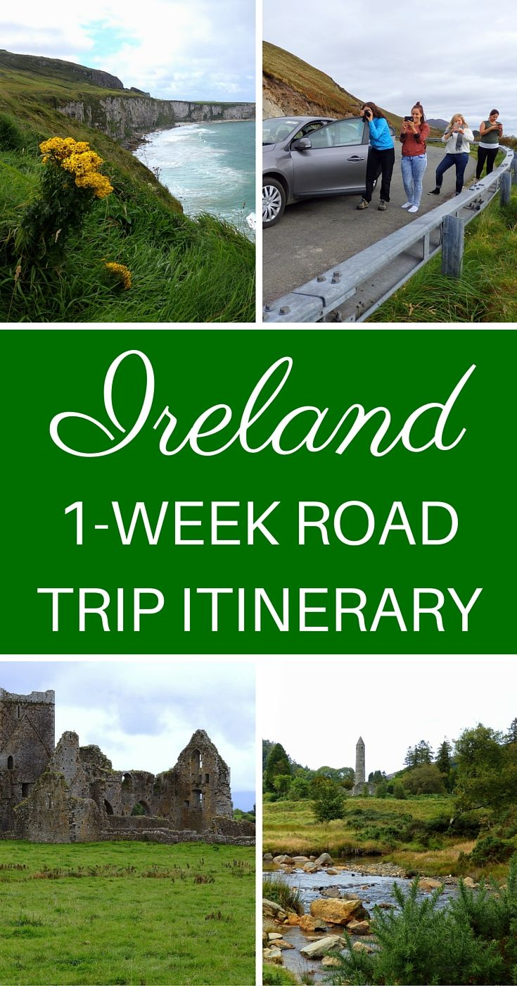 Ireland Road Trip Itinerary // 1 Week Driving Across The Emerald Isle.