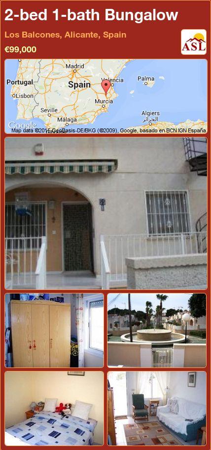 2-bed 1-bath Bungalow in Los Balcones, Alicante, Spain ►€99,000 #PropertyForSaleInSpain