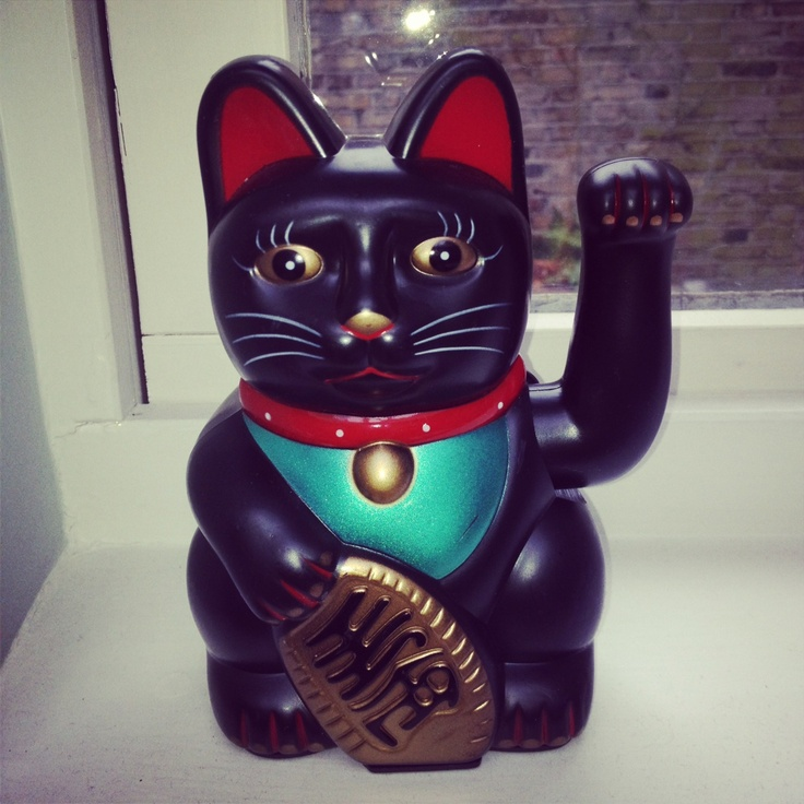 #lucky #mascot #studio #design #chinatown #cat #health #wave #cute #turquoise