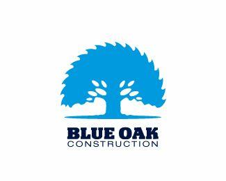 Logo Design: Blue Oak #Logo #Design gefunden auf www.abduzeedo.com gepinned von der Hamburger #Werbeagentur www.BlickeDeeler.de