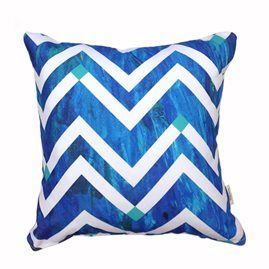 Chevron Splash 45cm x 45cm - Double sided cushion Australian made & designed Designs from original artworks www.lillyrockshop.com.au