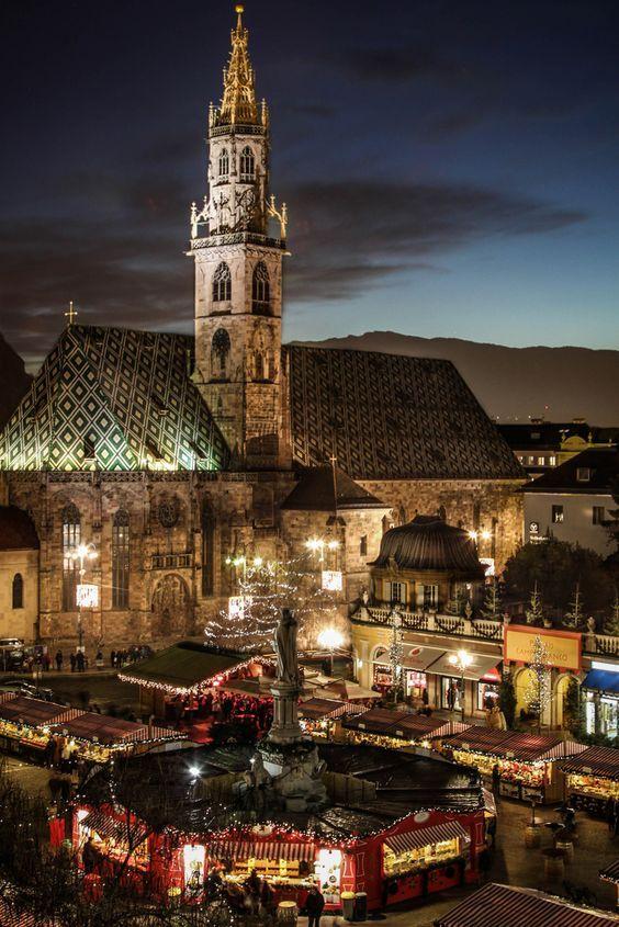 Bolzano, una ciudad en el  Sur de Tirol, al norte de Italia.