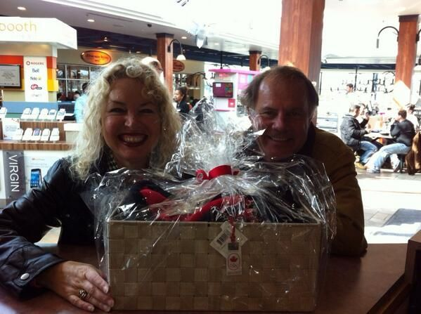 Congratulation to the awesome husband and wife team who won our weekly Olympic giveaway! :)