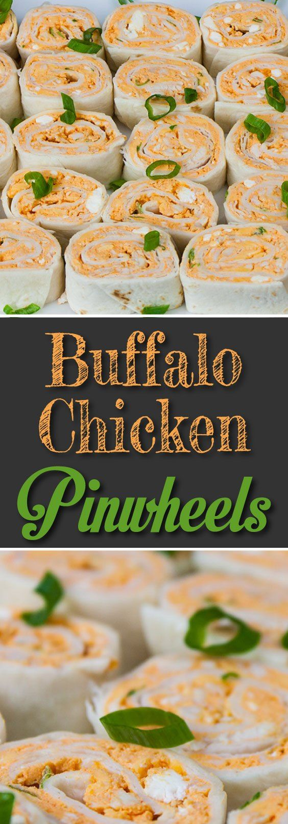 Easy Buffalo Chicken Pinwheels