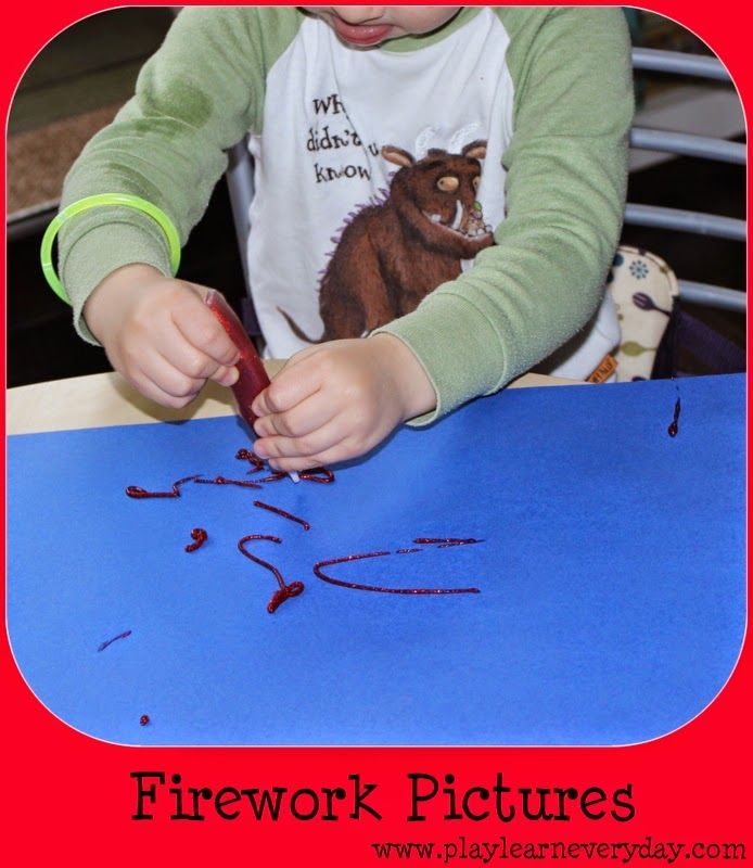 Play and Learn Everyday: Firework Pictures