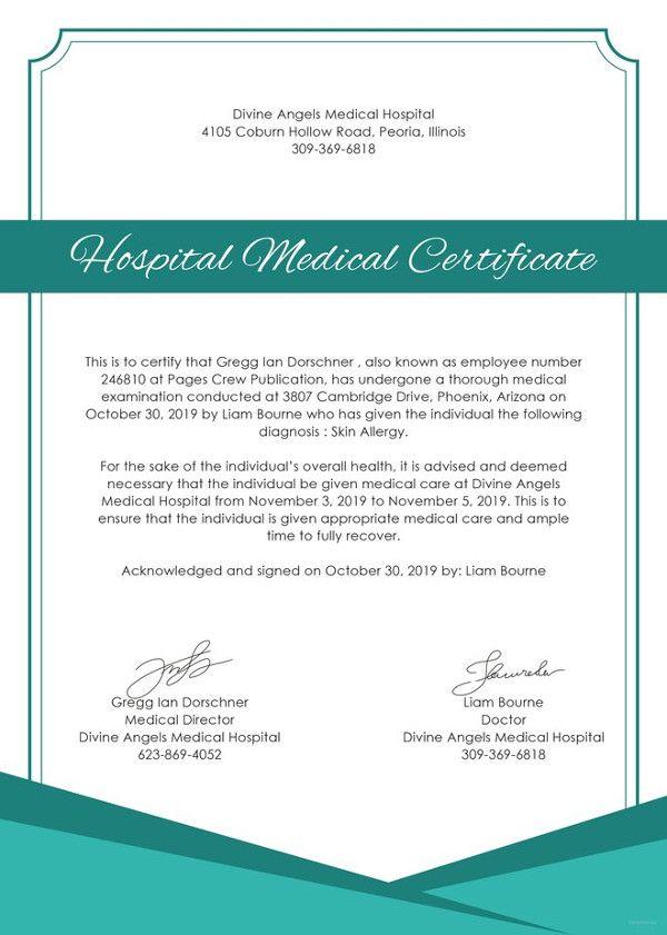 21 Medical Certificate Templates Free Word Pdf Medical Medical Prescription Medical Examination