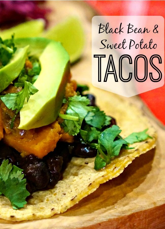 This recipe for black bean and sweet potato tacos (and red cabbage ...