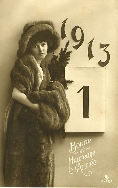 Using in New Year's Day a full century ago. #Edwardian #vintage #New_Years