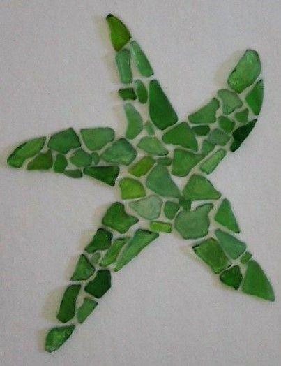 Starfish Beach Glass Sea Glass Art Authentic Narragansett Rhode Island #seaglassdiy #seaglassart