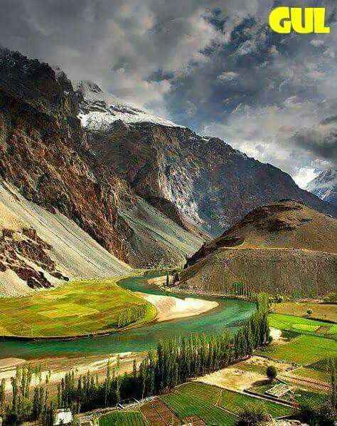 Fantastic photography of Beautiful Phandar river Ghizer valley,Hunza Gilgit Baltistan Pakistan