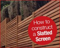 Western Red Cedar Slatted Screen Fence