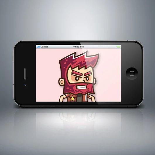 Red Beard Man Game Character - Bevouliin