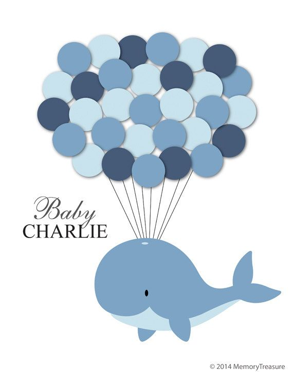 Baby Shower Guest Book Alternative Whale Baby Shower Whale Guest Book  Poster Guest Sign In Personalized Guest Book Customized Guest Book