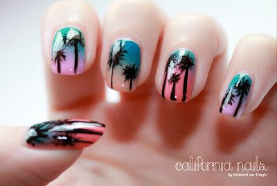 California Nails by diamant sur l'ongle