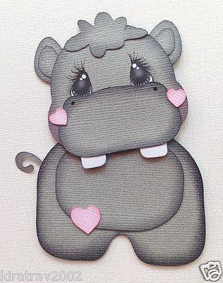 Baby Zoo Animal Hippo Paper Piecing by My Tear Bears Kira | eBay