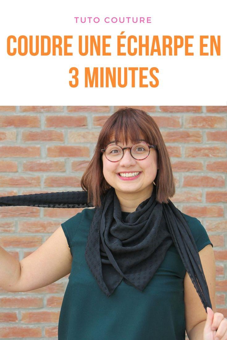 DIY : coudre un foulard en 3 minutes - le tuto couture