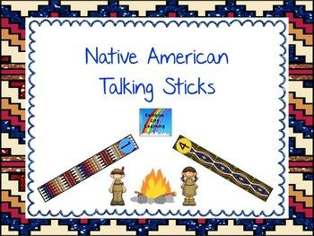 The talking stick has been used for centuries by many Native American tribes. It represents the sacred power of words, freedom of speech, and the right of the speaker to be heard. It is usually passed from speaker to speaker as they take turns. The sets of six talking sticks in this resource are meant to be used by each member of a book club, discussion group, or Socratic Circle to mark the number of turns they have taken in the discussion.
