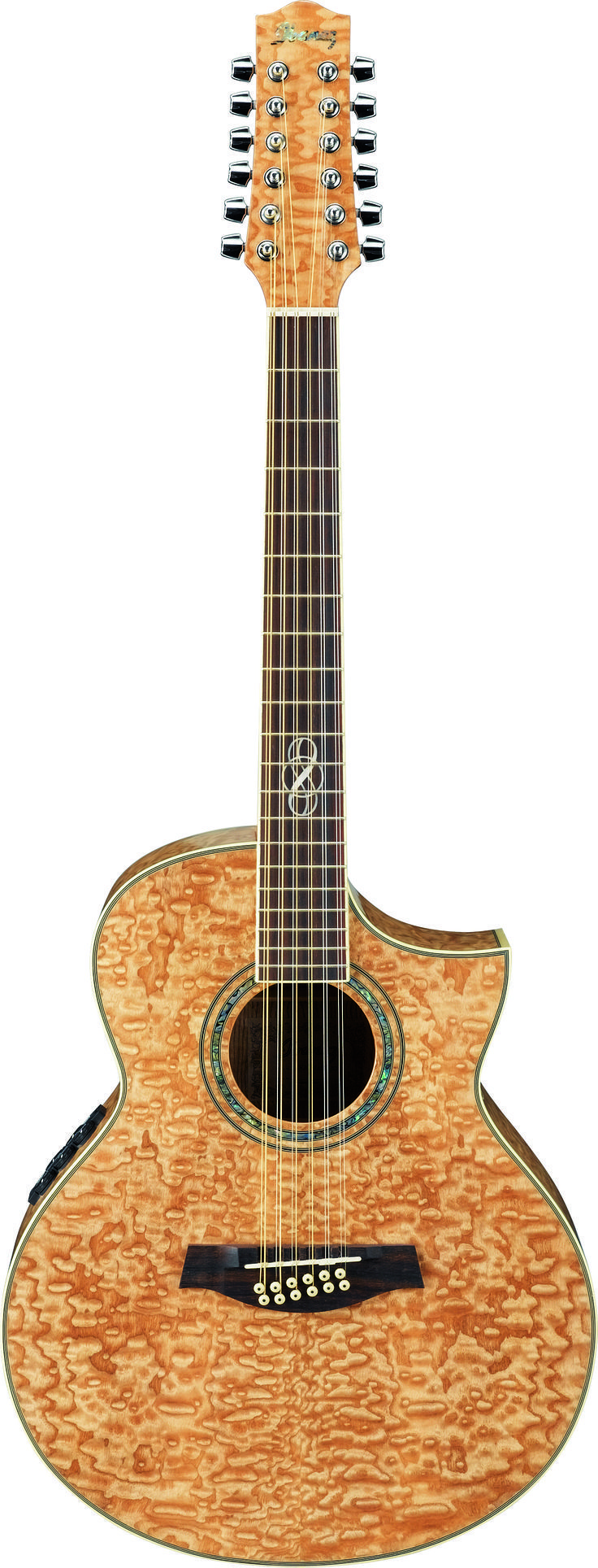 """Ibanez EW35SPENT Acoustic Guitar: SERIES BASICS•EW Body with Cutaway •Mahogany Neck •B-Band® UST™ Pickup •Ibanez SRTc Preamp with Chorus, Onboard Tuner •Balanced 1/4"""" and XLR Outputs •Ibanez Ivorex II™ Nut and Saddle •Ibanez Advantage™ Bridge Pins •D'Addario® EXP™ Strings"""