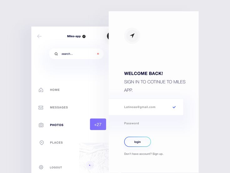 Miles app,Minimal Navigation and Sign in Screens by Igbal Mammadli