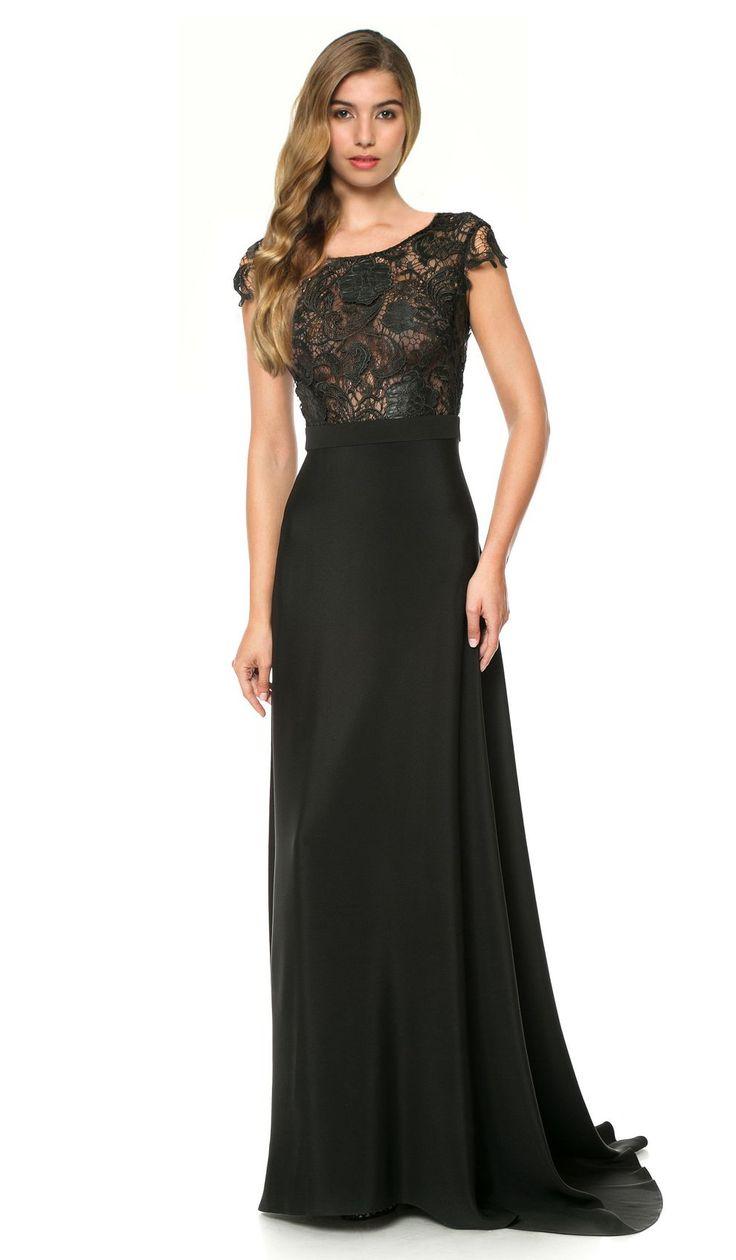Cristallini Black Macram 233 Lace Gown Chic By Choice Com