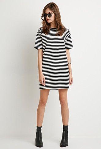 Striped T-Shirt Dress   Forever 21 - 2000173684