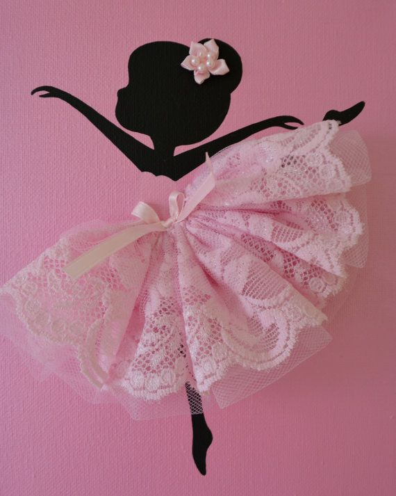 Set of three pink handmade canvases with Dancing Ballerinas in tutus. Each canvas is 8 X 10. The background and ballerinas are painted with acrylic