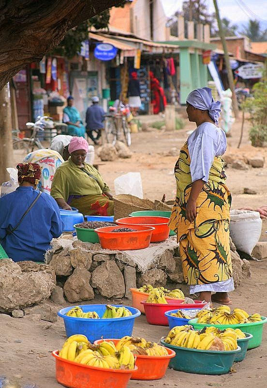 A market on the road to Arusha, Tanzania