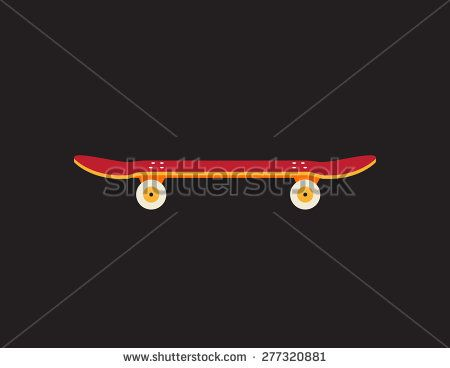 Retro vintage skateboard icon isolated on dark background