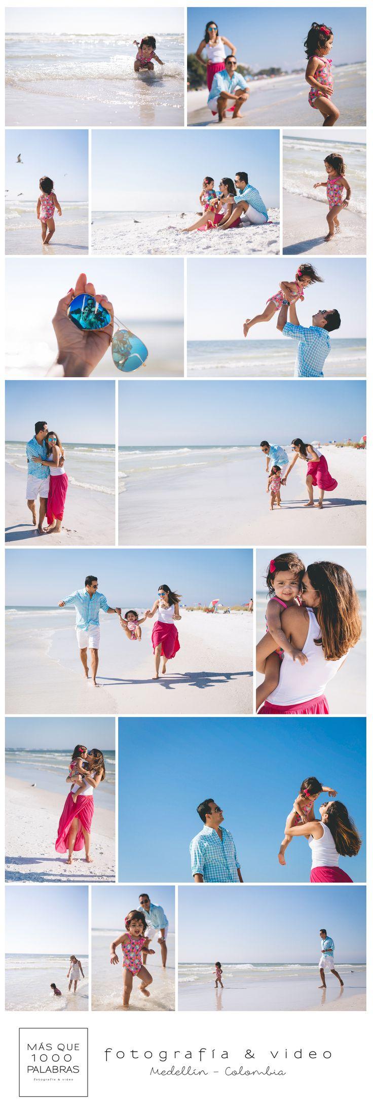 """FOTOS FAMILIARES EN LA FLORIDA Esta sesión de fotos tiene algo muy especial, la hicimos en un lugar que tiene mi nombre """"Anna Maria Island"""" cerca a Tampa en La florida. Un lugar increíble con una arena tan blanca que jamás había visto, es tan fina que casi desaparece en la mano y tan blanca que se vuelve transparente."""