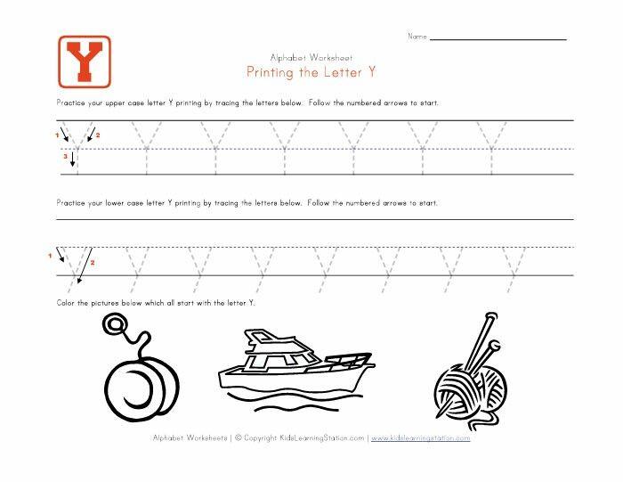 Number Names Worksheets letter y worksheet Free Printable – Letter Y Worksheet