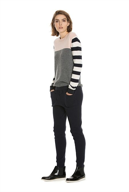 Women's Knitwear | Cardigans & Knits | Country Road Online - Colour Blocked Knit