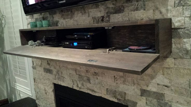 Mantel Hiding Cable Box And Dvd For The Home In 2019