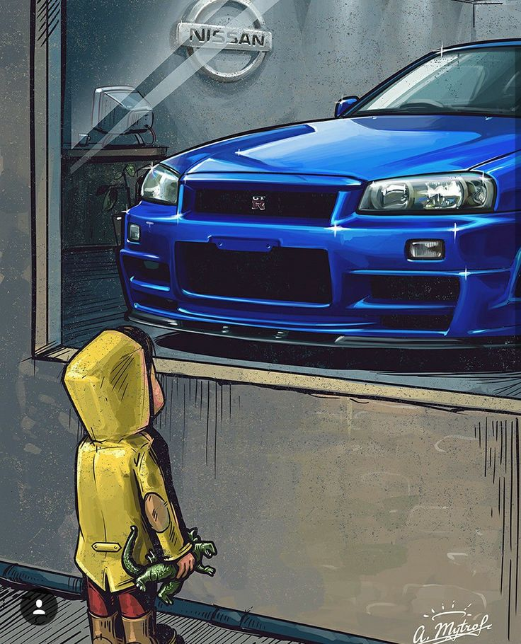 This was me when I first saw the Nissan Skyline GT-R 34 for the first time back in 98.
