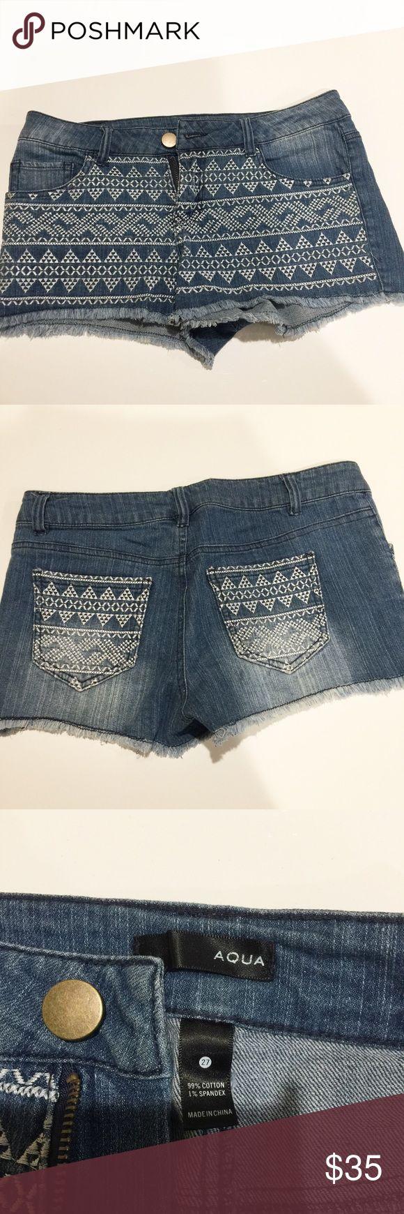 Aqua Jean Short Bought from Bloomingdales , pretty short Aqua Shorts Jean Shorts