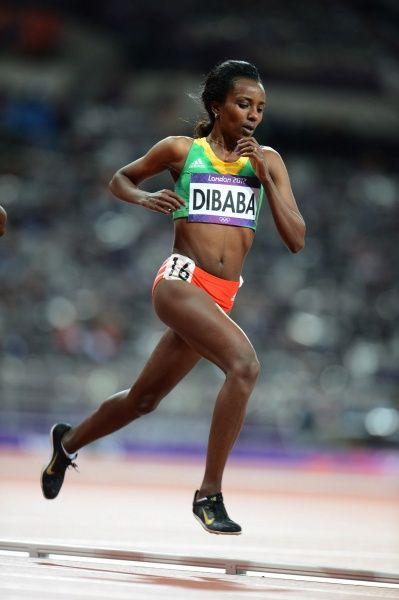Tirunesh Dibaba, triple Olympic champion in the 5000m and 10000m