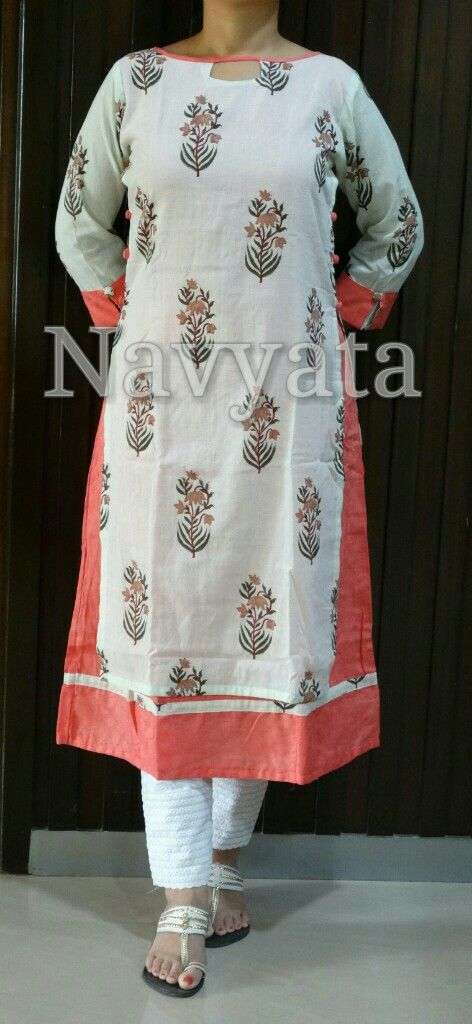 Classic Mughal Print !!! Check out this double layered kurti to look simple yet…