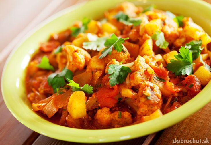 Indická pochúťka - zemiaky s karfiolom