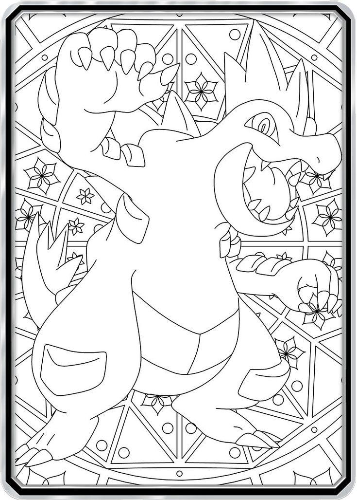 Color Me Feraligatr Custom Pokemon Coloring Card